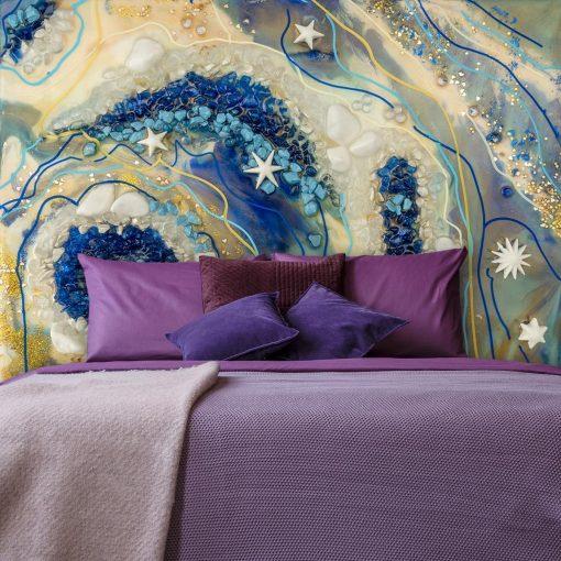 fototapeta dekoracja sypialni reprodukcją zywicy
