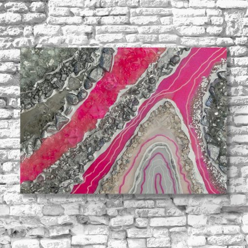Obraz resin art z abstrakcją