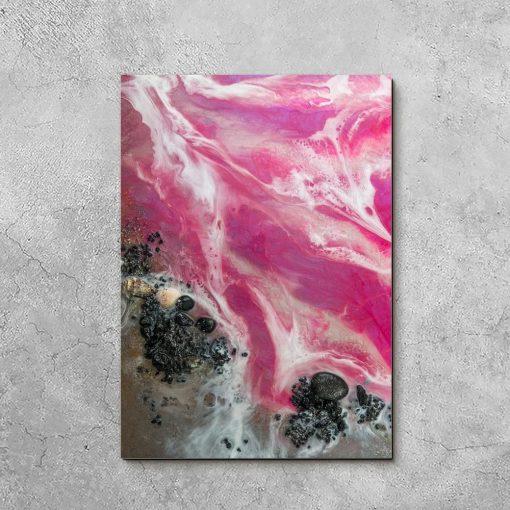 Obraz z różowym morzem
