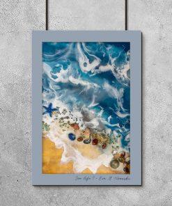 Plakat resin art - Motyw morza
