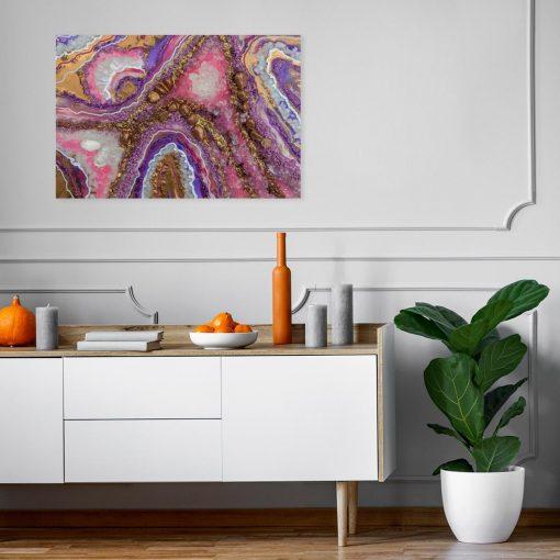 Obraz geode art z abstrakcją do biura