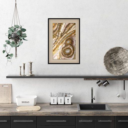 Plakat ze wspaniała abstrakcją do sypialni