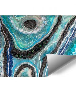 Fototapeta z motywem niebieskich kamyczków