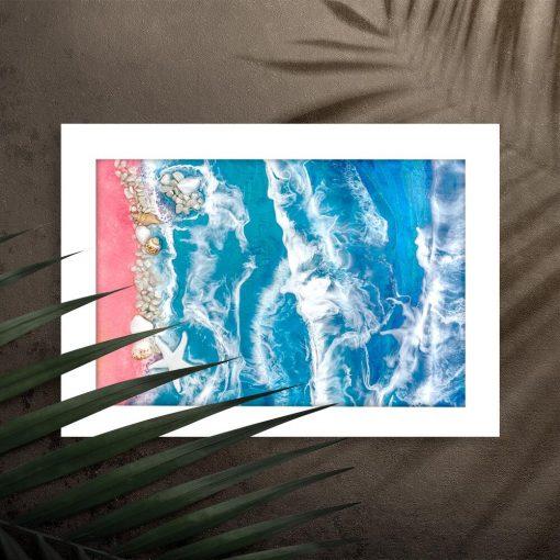 Plakat - Piaszczysta plaża i morze