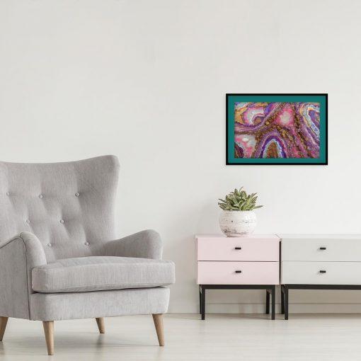 Plakat z abstrakcją na ścianę w salonie