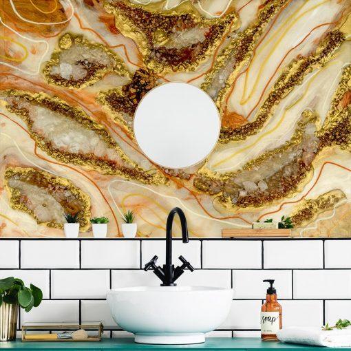 dekoracja do łazienki fototapeta abstrakcja z kamieniami