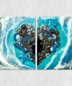 Obraz dyptyk - Morze i serce
