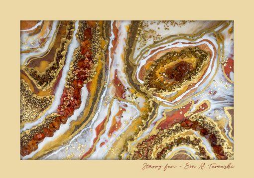 Plakat - Geode art z abstrakcja