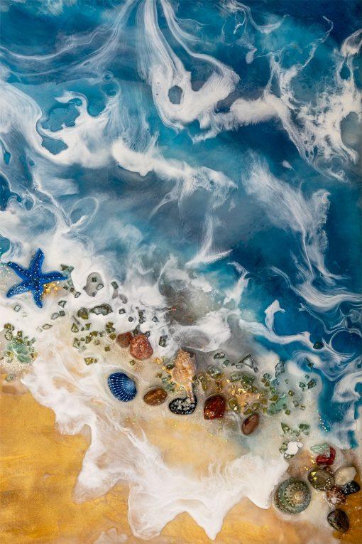 Obraz resin art - Morze