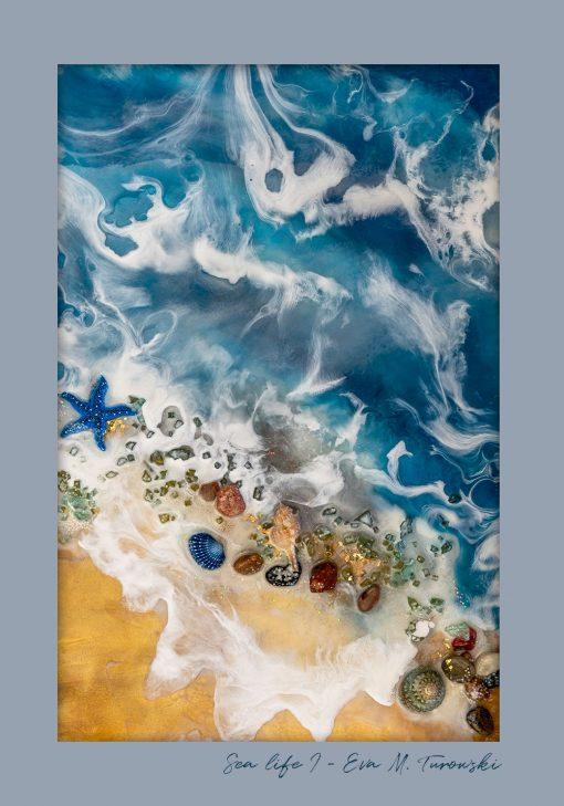 Plakat z motywem morza
