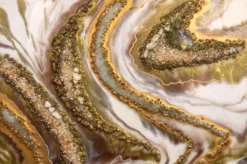 Fototapeta ze złoto-brązową abstrakcją