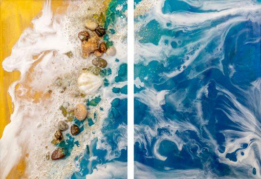 Obraz podwójny z motywem morza