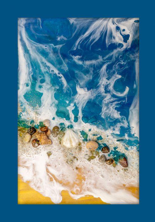 Plakat z motywem morza i muszelek