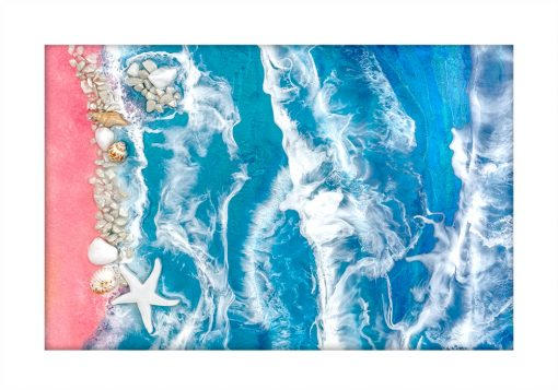 Plakat - Piaszczysta plaża z muszelkami