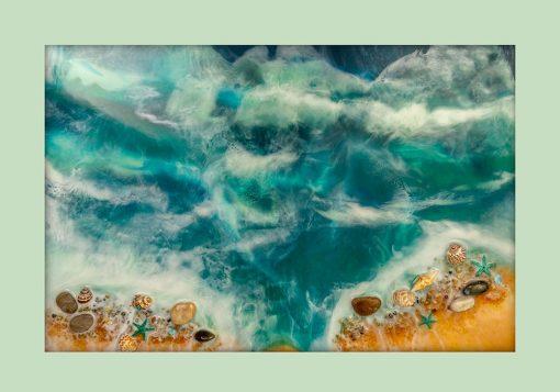 Plakat - Muszle na piaszczystej plaży