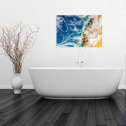 Obraz geode art do łazienki