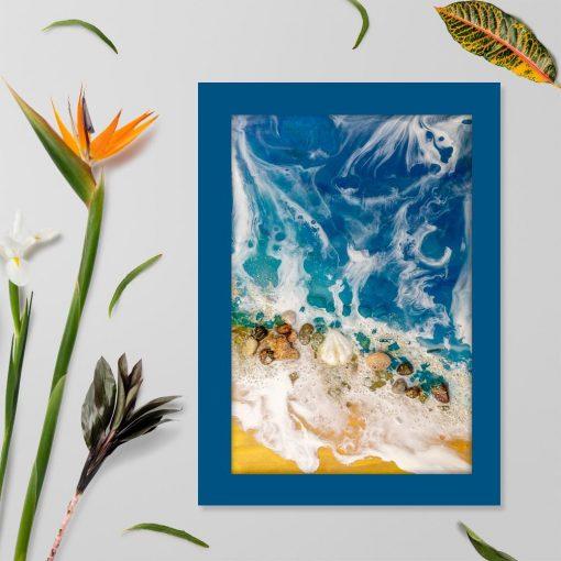 Plakat - Muszelki na plaży