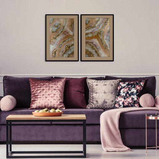 Plakat podwójny - Abstrakcja z kamyczkami