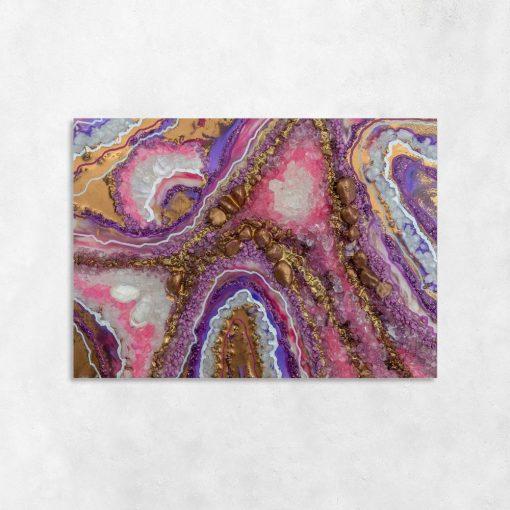 Abstrakcyjny obraz geode art do salonu
