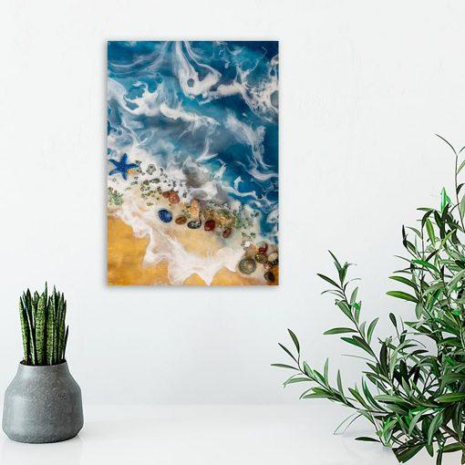 Obraz z motywem morza - Malarstwo żywiczne