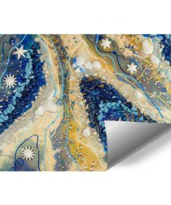 Fototapeta geode art z niebieskimi kamyczkami do salonu