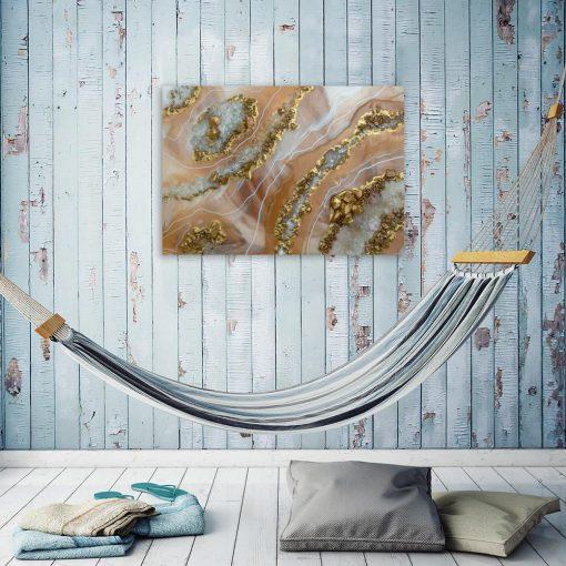Abstrakcyjny obraz w stylu resin art do salonu