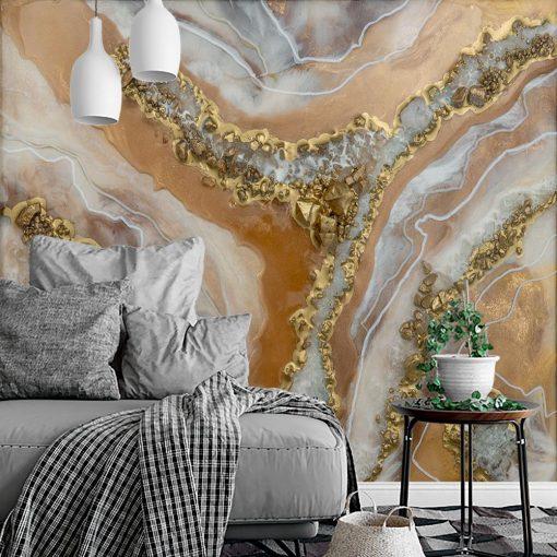 Fototapeta resin art - Abstrakcja w kolorze złotym