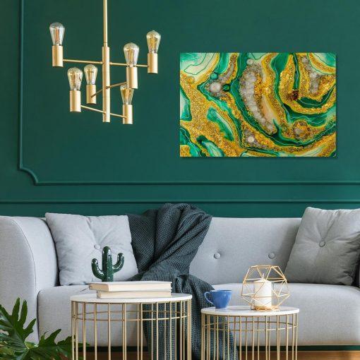 inspiracja do salonu obraz abstrakcja na płótnie geode art