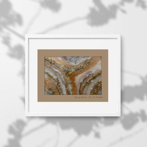 Plakat z abstrakcyjnym wzorem - GEODE
