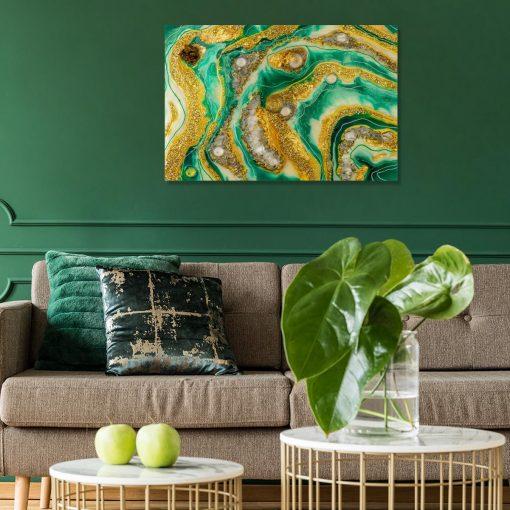 Obraz geode style sztuka żywiczna abstrakcja do salonu