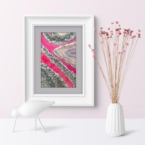 Pionowy plakat z abstrakcją do sypialni