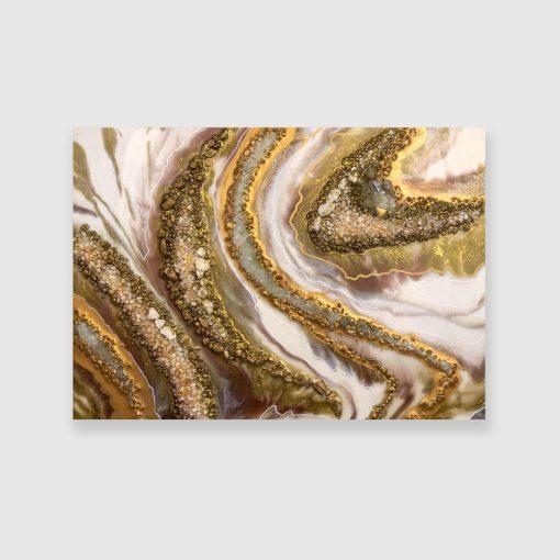 Obraz z motywem złoto-brązowej abstrakcji