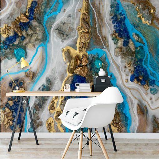 Fototapeta resin art z kamieniami do sypialni