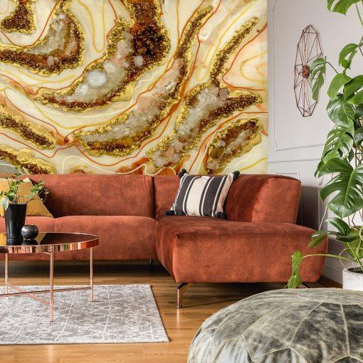 dekoracja do salonu fototapeta geode style abstrakcja