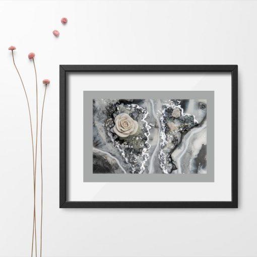 Plakat - Brokatowa róża