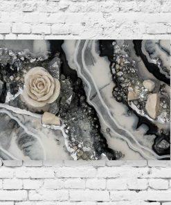 Obraz geode art - Róża