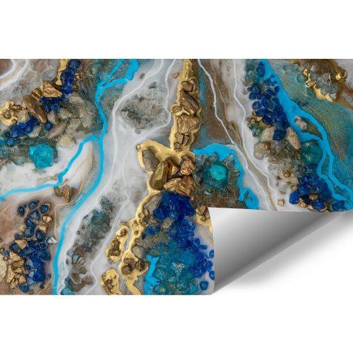 Fototapeta resin art z niebieskimi kamieniami