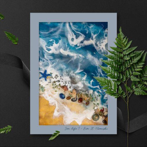 Plakat resin sea - Motyw morski