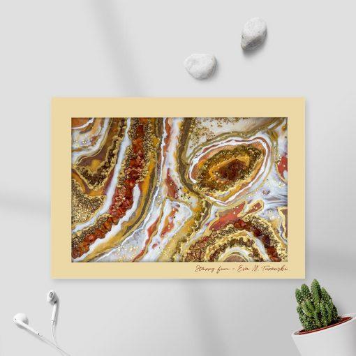 Plakat z abstrakcją z żywicy