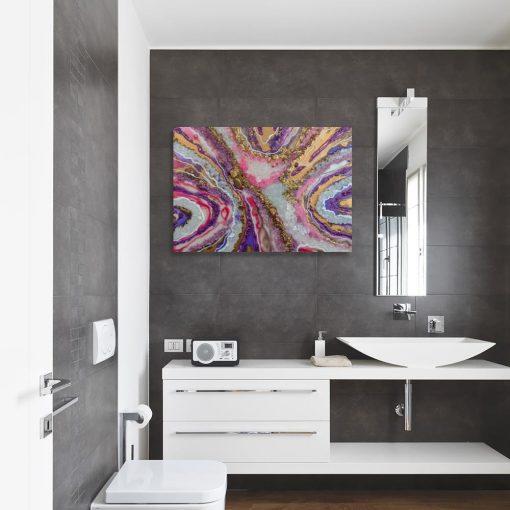 Obraz z abstrakcyjnymi kamyczkami
