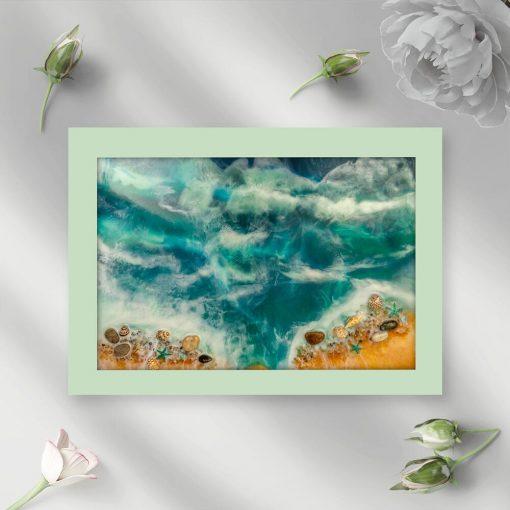 Plakat geode art - Morskie fale