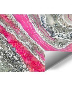 Foto-tapeta z abstrakcją w kolorze srebrnym