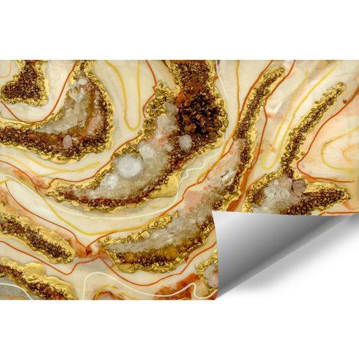 Fototapeta dekoracja z kamieniami i abstrakcją z żywicy epoksydowej
