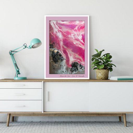 Plakat - Różowe morze i plaża