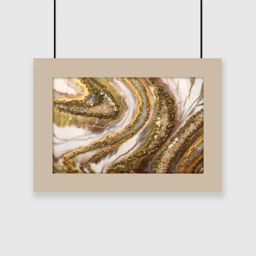 Poziomy plakat z abstrakcją do salonu