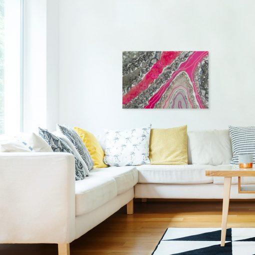 Obraz z motywem abstrakcji do salonu - Resin art