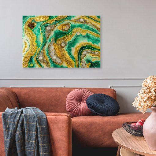 Obraz do salonu malarstwo żywicą reprodukcja z abstrakcją