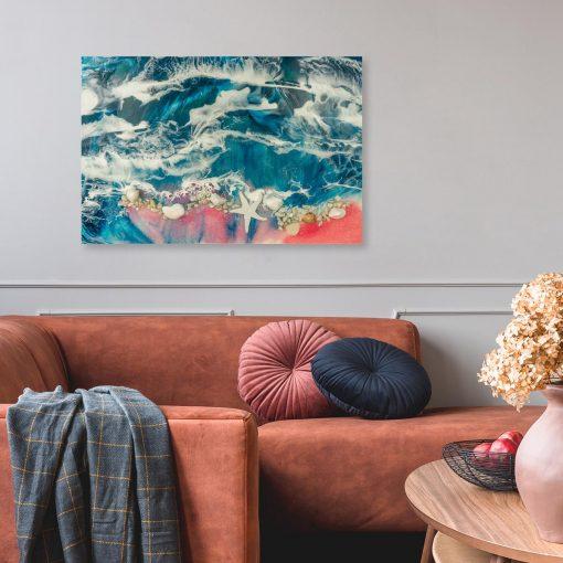 obraz do salonu wzór morza reprodukcja malarstwa
