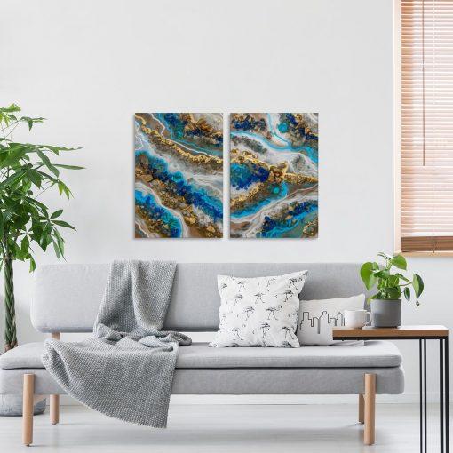Obraz podwójny - Niebieskie kamyczki