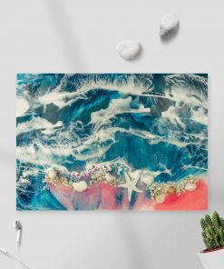 obraz resin sea sztuka żywicy z morzem